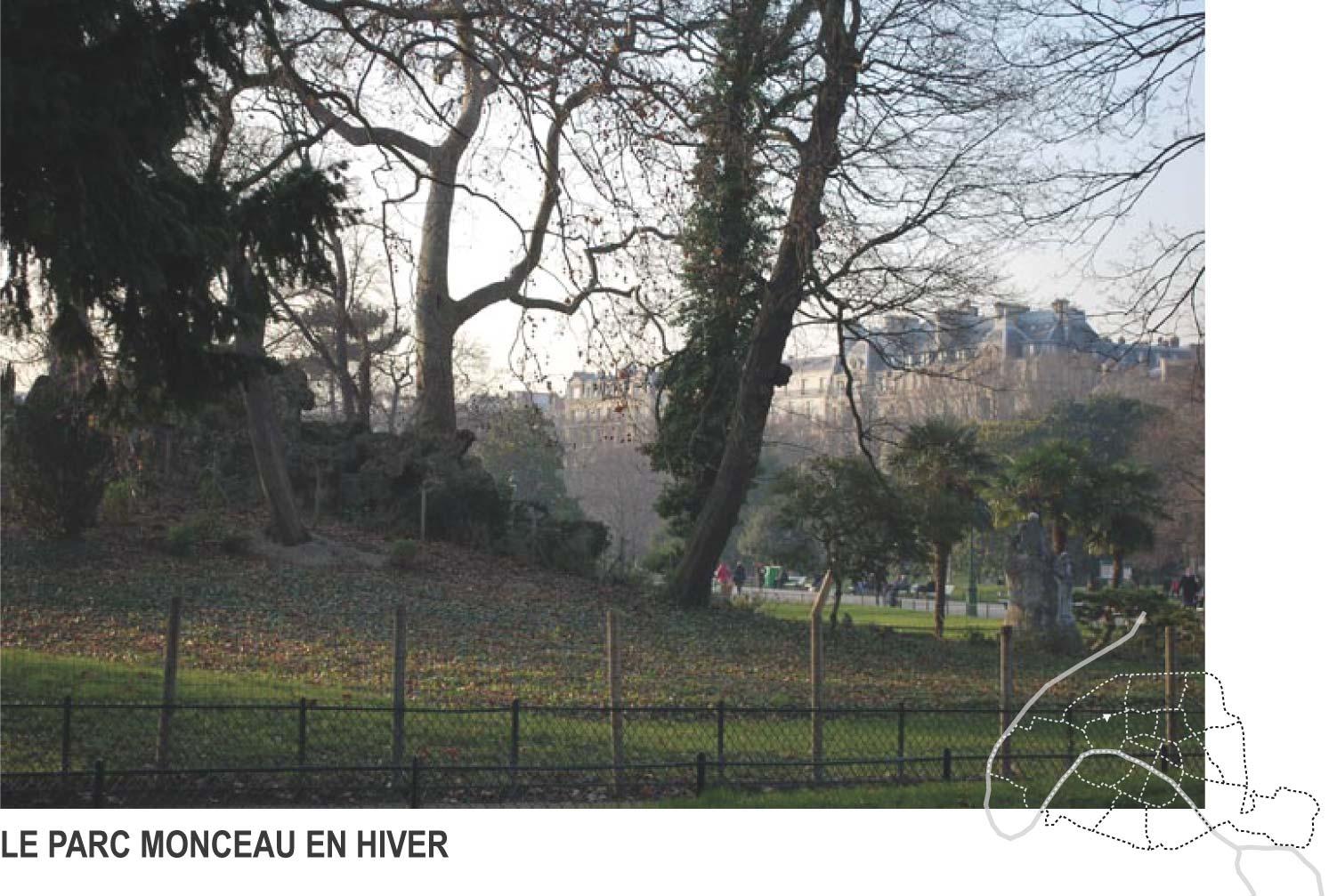 paris parc monceau hiver