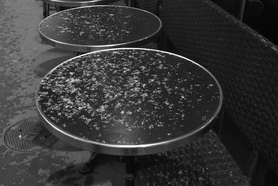 neige paris table bistrot